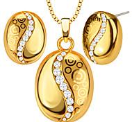 Anhänger Metall / Kristall Round Shape Gold 50