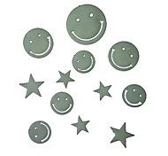 Romantic House Absorptiometric Night Lights Stickers-Smiling Face and Stars