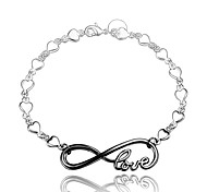 Christmas Gift Love Charms Black and Silver Fashion Jewelry Bracelet for Girl