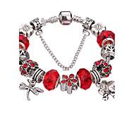Femme Filles´ Charmes pour Bracelets Bracelets Rigides Bracelets de rive Bracelets en Argent Durable Mode Adorable PerléAcrylique Strass