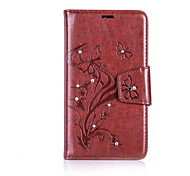 For One Plus 3 Butterfly Pattern Embossed The drill PU Leather Material Phone Case