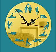 Modern/Zeitgenössisch Familie Wanduhr,Kreisförmig Acryl 22*22cm Drinnen Uhr