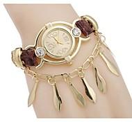 Woman Gold Leaf Wrist Watch