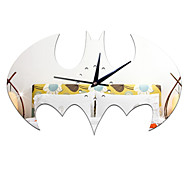Wall Stickers Living Room  Bell Creative Home Decorations Crafts Wall Clock Watch Batman Removable Halloween Bat