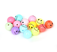 Beadia 50Pcs Mixed Colors Acrylic Beads 12mm Round Smiling Face Plastic Spacer Beads (1.5mm Hole)