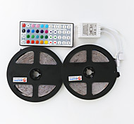 2×5M 300X2835  Waterproof LED SMD RGB LED Strip Light Remote Controller and1BIN2 Connecting line(DC12V)