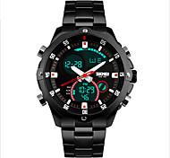 SKMEI Masculino Relógio Esportivo Quartzo Mecânico - de dar corda manualmente Quartzo Japonês LED Impermeável Relógio CasualAço
