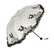 guarda-sol guarda-chuva dobrável vinil guarda-sol borboleta uv guarda-sol feminino coreano