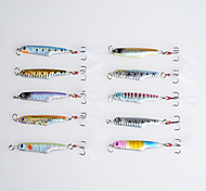 10Pcs Hengjia Lead Fishing lures Metal Hard Baits 57MM 15.7G Crankbaits