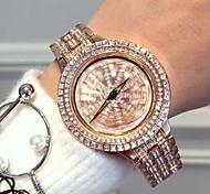 Women's Luxury Sparkle Stainless Steel Band Quartz Watch