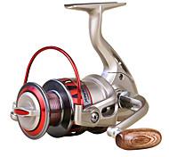 Carretes para pesca spinning 5.5/1 10 Rodamientos de bolas Intercambiable Pesca de baitcasting / Pesca en General-DF1000 Yumores