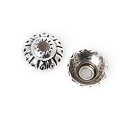 55pcs beadia plata antigua granos de la aleación del casquillo de 8x3mm forma de la flor granos del espaciador