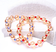 Women Blue/Red 18cm Round Strand Bracelet