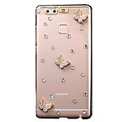 Funda Trasera Brillante Mariposa PC Duro Cubierta del caso para HuaweiHuawei P9 / Huawei P9 Lite / Huawei P8 / Huawei P8 Lite / Huawei
