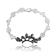 Italy Silver Christmas Gift Black and Silver Fashion Jewelry Bracelet for Girl