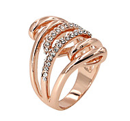 Ring Fashion Party / Daily / Casual Jewelry Alloy / Zircon Women Band Rings 1pc,8 Gold