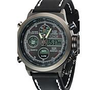 Masculino Relógio Esportivo / Relógio Militar / Relógio de Moda Digital / Quartzo JaponêsLCD / Impermeável / Dois Fusos Horários / alarme