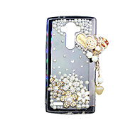 For LG Case Rhinestone / Transparent Case Back Cover Case 3D Cartoon Soft TPU LG