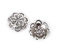 16pcs beadia antiguos granos de la aleación de plata de la flor granos del espaciador 15x4mm&perlas casquillo