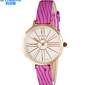 SYNOKE Women's Fashion Watch Quartz Water Resistant / Water Proof PU Band Casual Black White Red Pink Purple