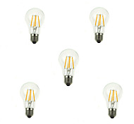 5pcs A60 4W E27 360LM Dimmable 360 Degree Warm Cool White Color LED Filament Light