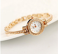 Women's Wrist watch Bracelet Watch Simulated Diamond Watch Casual Watch Quartz Alloy Band Sparkle Charm Gold