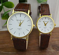 Couple's Men's Watch Women Casual PU Leather Quartz Watch Fashion Watch Cool Watches Unique Watches
