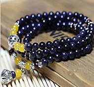 Fashionable Agate 72cm Round Strand Bracelets