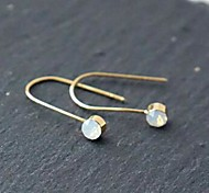 U Shape Zircon Earrings
