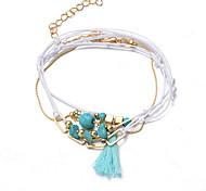 Bracelet/Chaînes & Bracelets / Charmes pour Bracelets / Bracelets de rive / Bracelets Wrap / Loom Bracelet Alliage / Dentelle / Turquoise