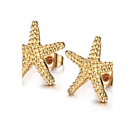 Earring Star Stud Earrings Jewelry Women Fashion Daily / Casual Titanium Steel 1 pair Gold
