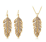 Women's Bohemian Fashion Elegant Crystal Necklace Earrings Set