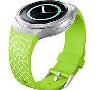 relojes correa de reloj de silicona patrón de cuadrícula inteligente para S2 de Samsung Galaxy engranajes