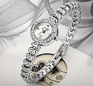 Women's Bracelet Style Silver Alloy Quartz Watch