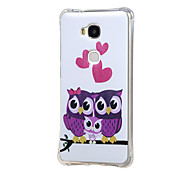 Owl Family Pattern Grainy Inner Shockproof Air TPU Back Case Cover for Huawei Honor Play 5X / Honor 5X