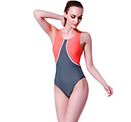 SBART Women's Swimwear Diving Suit Compression Wetsuits 1.5 to 1.9 mm Gray / Orange XL / XXL / XXXL / XXXXL Swimming