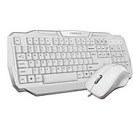 Cadeve Computer Keyboard and Mousepand Tow Pieces a Set White