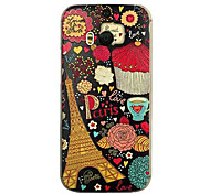 For HTC Case Embossed Case Back Cover Case Eiffel Tower Hard PC HTC