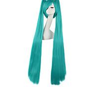 Parrucche Cosplay Vocaloid Hatsune Miku Verde Molto lungo Anime Parrucche Cosplay 120 CM Tessuno resistente a calore Uomo / Donna