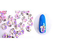 10pcs  Manicure Spend Money A B Ornaments Pearl White Diamond 6 Optional NO380-385