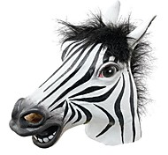 Fun Halloween Mask Realistic Latex Horse Head /Interesting Funny Party Masquerade Masks Silicone Face Zebra Mask