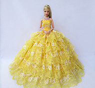 Barbie Doll Holiday Party Dress in Splendid Golden Yellow