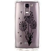Back Pattern Dandelion TPU Soft Luxury Bronzing Case Cover For LG LG K10 / LG K8 / LG K7