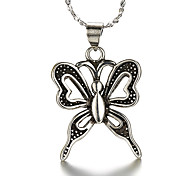 Punk Vintage Thai Silver Butterfly Silver Necklace Pendant Necklaces Daily / Casual 1pc