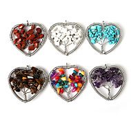 Pendants Stone Heart Shape As Picture 1Pc