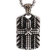 coulée pendentif croix homme vent rock