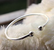 Silver Full-Star Adjustable Cuff Bangle Bracelet