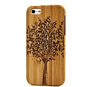 ручной работы из натурального дерева деревянная плоть крышка Жесткий чехол бамбук iPhone 5/5 секунд