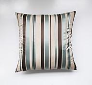 Satin Striped Cushion Cover-Blue