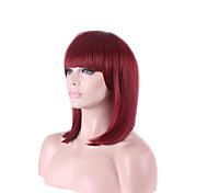 Afro дешевое вино красное Fuxia цвет короткий боб парики парик косплей высокой температуры волосы волокна костюм прекрасный женский